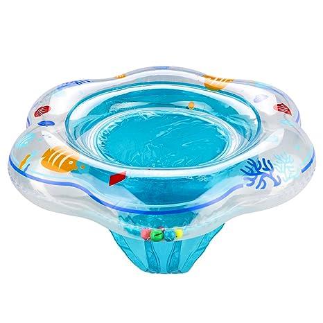 Baby nadar Ring, komake Niños Pequeños Niños Natación anillo flotante hinchable Baby flotador (Cuello
