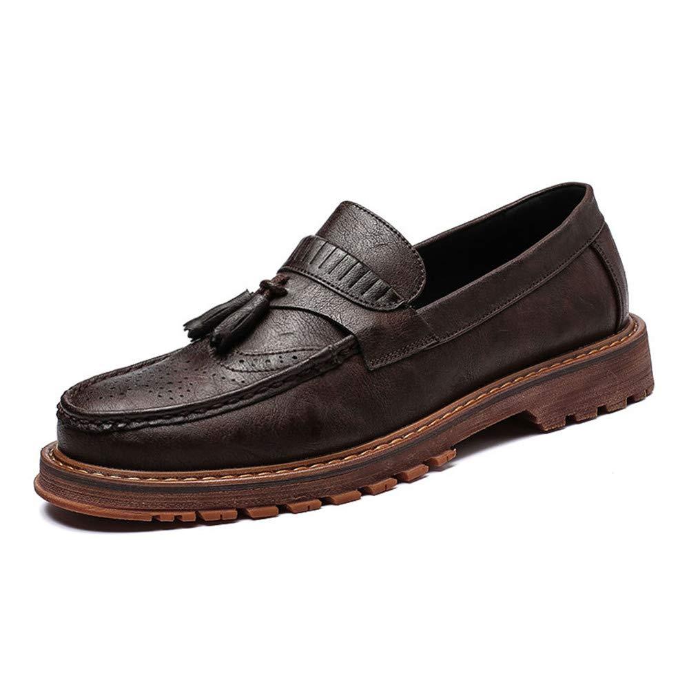 JIALUN-Schuhe Herrenmode Business Oxford lässig Neue britische Retro Retro Retro Low Top schnitzen Tasseled Brogue Schuhe (Farbe   Braun, Größe   41 EU)  a2ddde