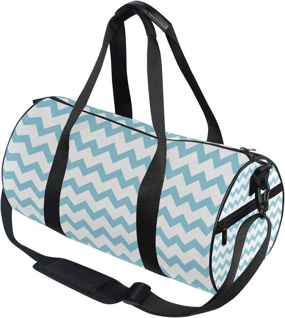 MALPLENA Skyblue Wavy Drum gym duffel bag women Travel Bag