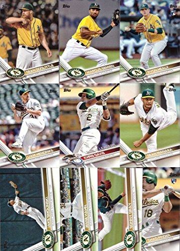 2017 Topps Series 1 Oakland Athletics (A's) Baseball Card Team Set - 10 Card Set - Includes Khris Davis, Ryon Healy, Sonny Gray, Sean Doolittle, and more!