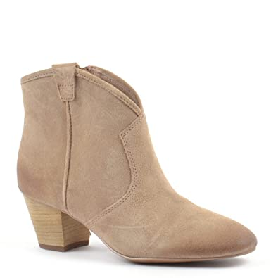 d354fdb86356d Ash Spiral Chamois Suede Western Ankle Boots Chamois 37  Amazon.co.uk   Shoes   Bags