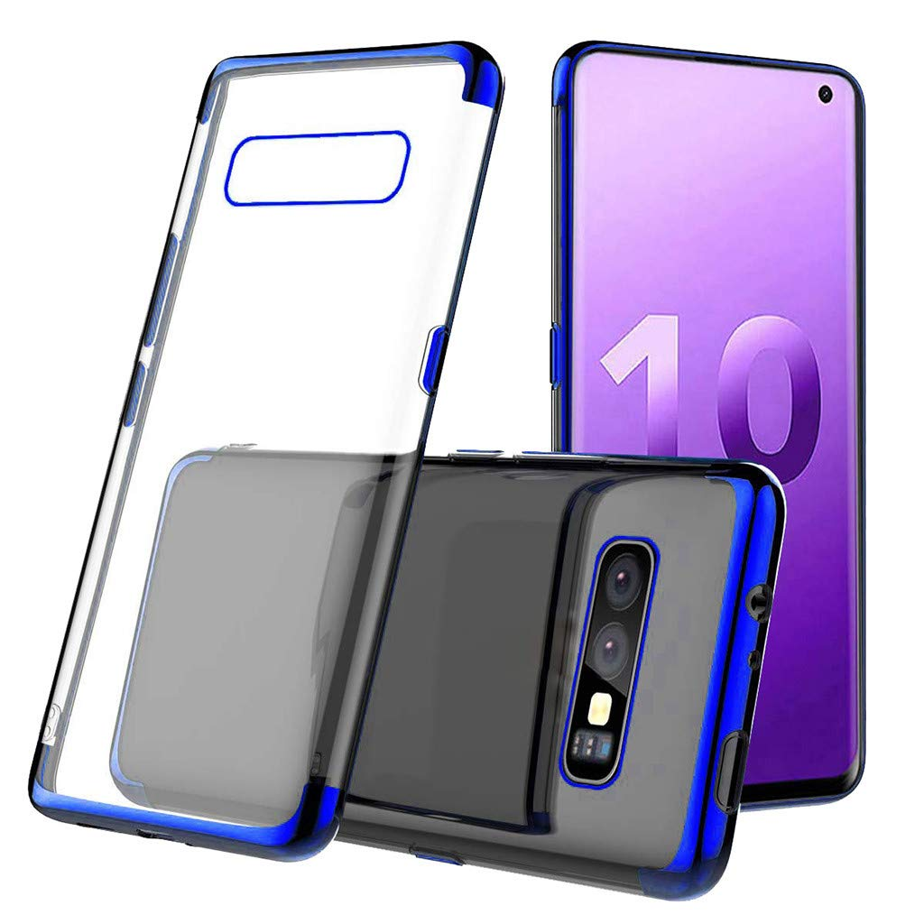 Waterproof-Case-with-Built- Screen-Protector,For Samsung-S10e -5.6inch-Clear-Case,Shock-proof-Protective-TPU-Gel Cover (Blue)