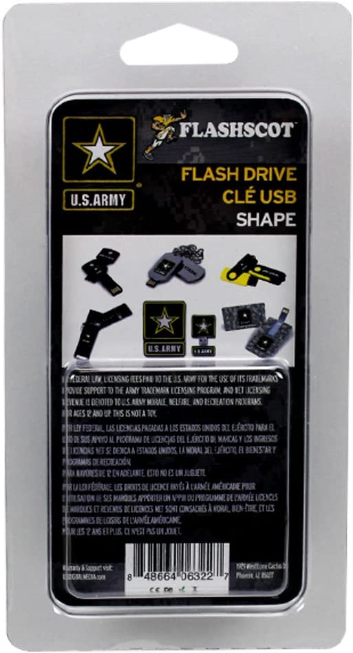 Flashscot US Army Star Logo Shape USB Drive 4GB