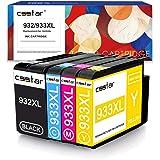 CSSTAR Compatibili Cartuccia d'inchiostro Sostituzione per HP 932 933 XL 932XL 933XL Multipack per OfficeJet 7612 7110 6700 7610 6600 7610 Stampante - Nero, Ciano, Magenta, Giallo