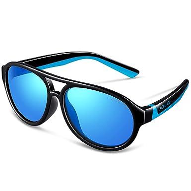 595401c21dbb Kids UV 400 Polarized Sunglasses for Boys Child Teen Youth Junior Children  Sport Glasses Strap,
