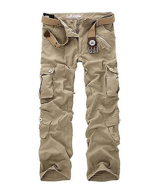 più amato bellezza per comprare ZKOO Uomo Carico Pantaloni con Multi Tasche Lungo Cargo Pantaloni ...
