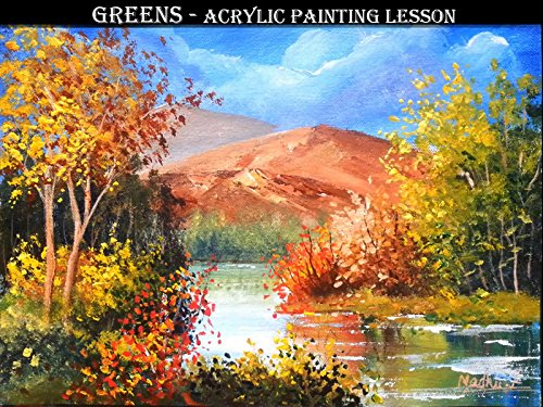 (Greens - Acrylic Painting Lesson)