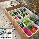 Storage Organization Best Deals - Adjustable Drawer Dividers for Utility & Junk Drawer Kitchen and Office Storage & Organization by Uncluttered Designs (1 Pack)