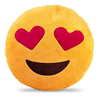 Indian Handicrafts Export Smiley Cushion (Emoji)
