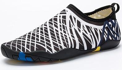 Men Women's Barefoot Quick-Dry Water Sports Aqua Shoes for Swim Walking Yoga Lake Beach Boating (10 B(M)US Women/8.5 D(M)US Men Yellow)