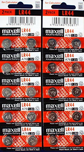 Maxell LR44, Alkaline Button Cell Battery, No Mercury - Lr44 Button Battery