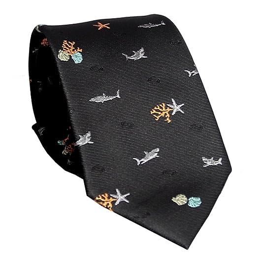 YYB-Tie Corbata Moda Corbata de Hombre Elementos Marinos Jacquard ...