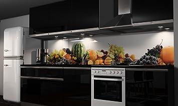 Küchenrückwand Folie selbstklebend Früchte Klebefolie in ...