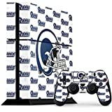 Skinit NFL Los Angeles Rams PS4 Console and Controller Bundle Skin - Los Angeles Rams White Logo Blast Design - Ultra Thin, Lightweight Vinyl Decal Protection