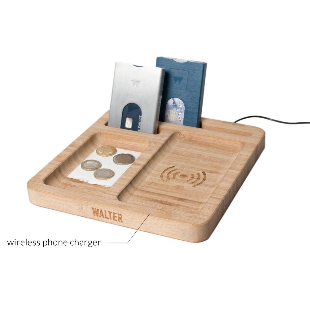 Bamboo Wireless Charging & Organizing Dock Walter Wallet WALTERDOCK