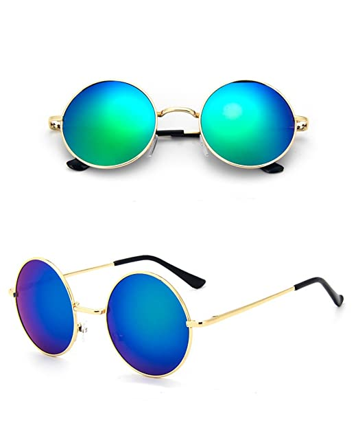 Lunettes de soleil Chic-Net unisexe lunettes rondes hippie John Lennon teinté 400UV noir violet 4uIjME