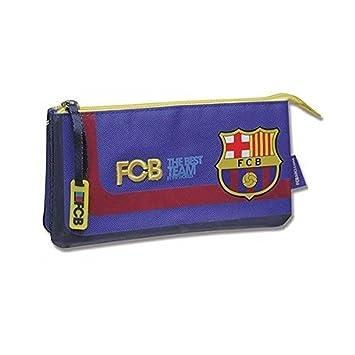 Estuche portatodo triple Barcelona CF: Amazon.es: Equipaje