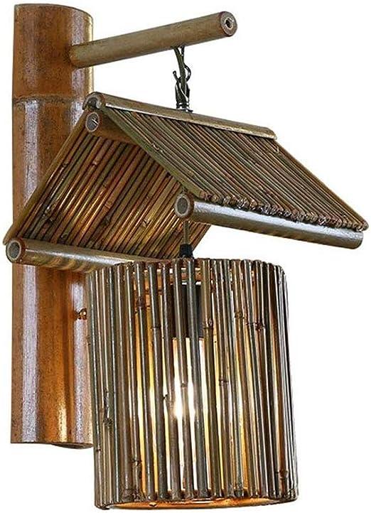 Corredor lámpara de pared creativa y la nostalgia retro de bambú, Escaleras, bar, restaurante, lámpara decorativa, lámpara de cabecera, Cuarto de vestir de la lámpara, lámpara de baño, Tocador de la l:
