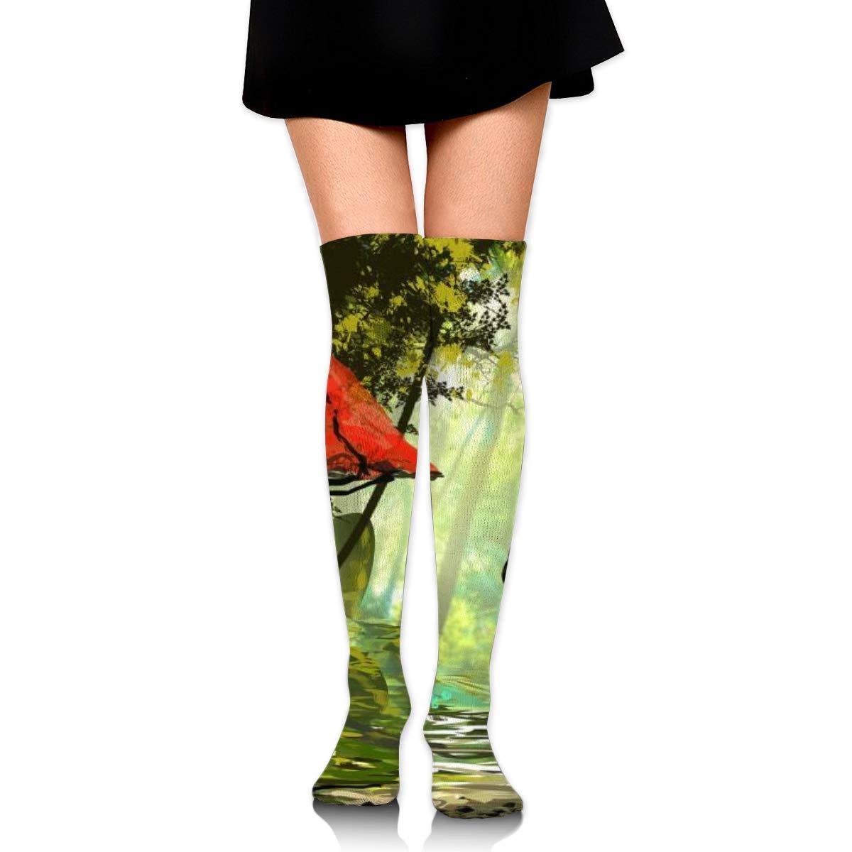 Kjaoi Girl Skirt Socks Uniform Large Mushroom Women Tube Socks Compression Socks