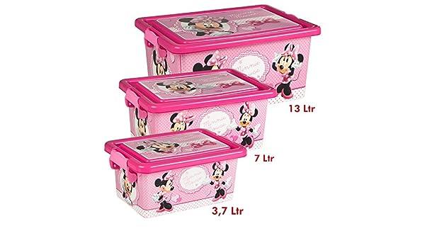 COLORBABY Minnie Mouse Lote 3 Cajas Ordenación 3,7 L / 7 L / 13 L ...