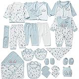 HZXVic Baby Layette Set for Newborn,23 Piece Preemie Boys or Girls Essentials Suits Gift
