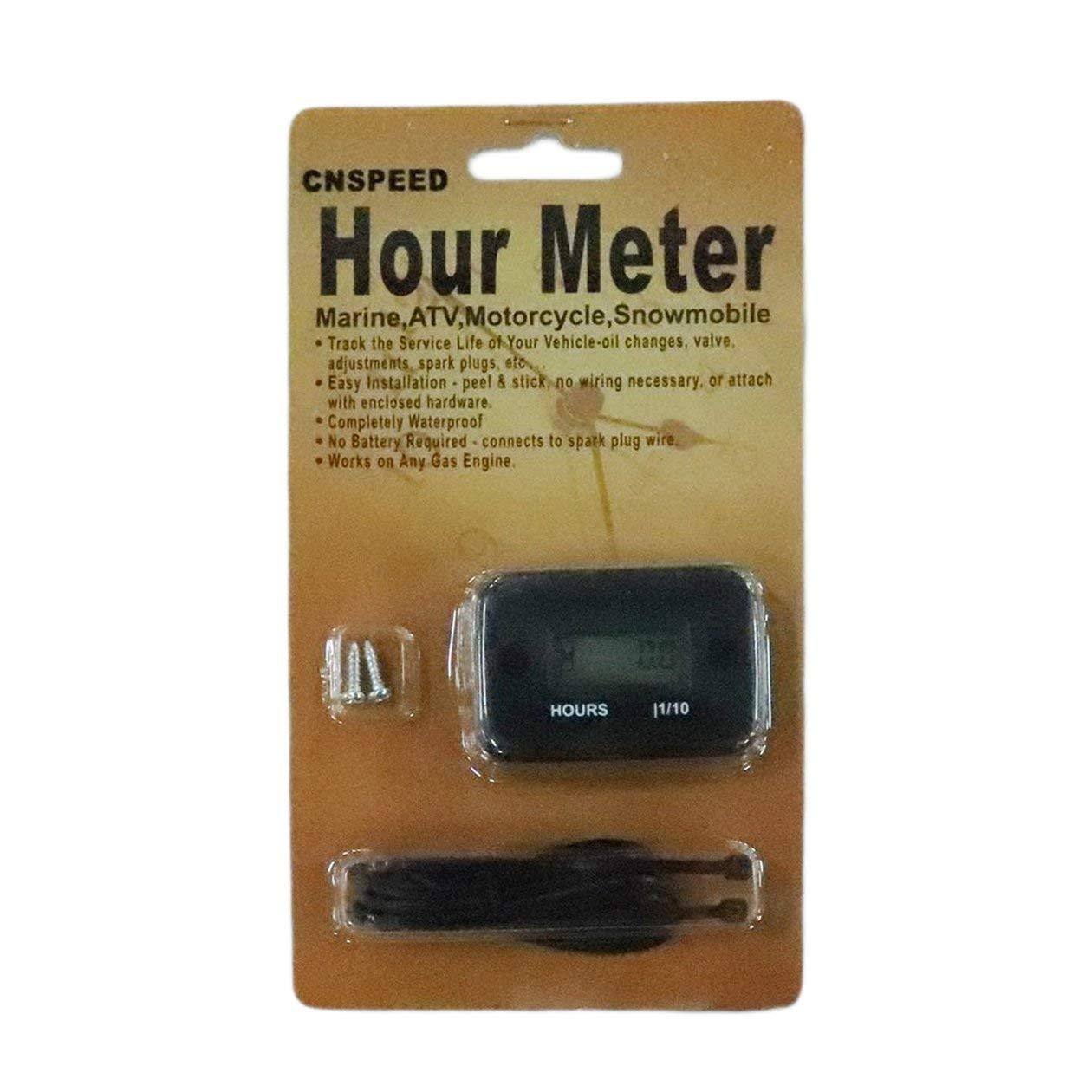 Boat Engine Parts Waterproof Digital LCD Display Hour Meter For