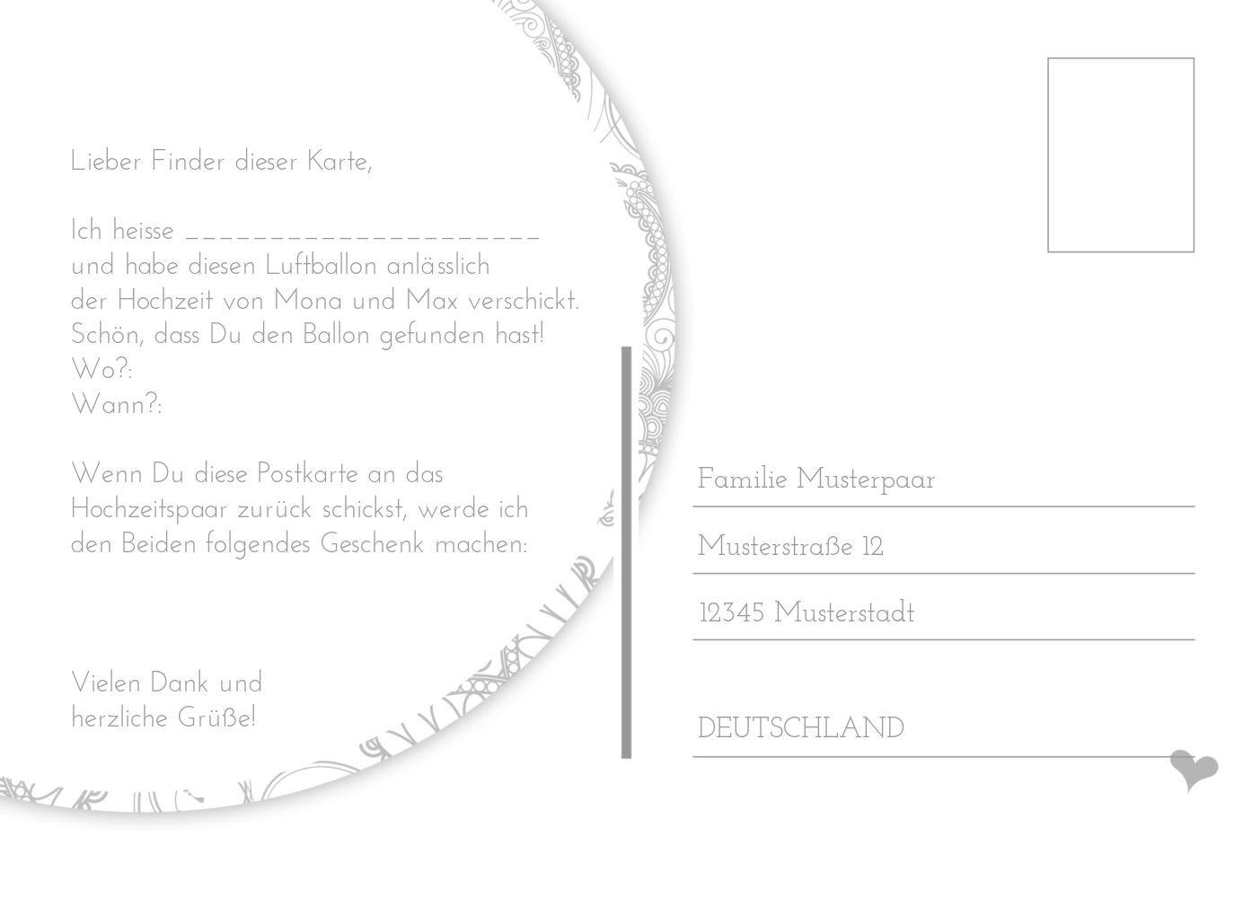 Ballonkarte Traumhochzeit, 80 Karten, Karten, Karten, Weiß B07CQD1493 | Online Kaufen  | Moderner Modus  | Feinbearbeitung  76226c
