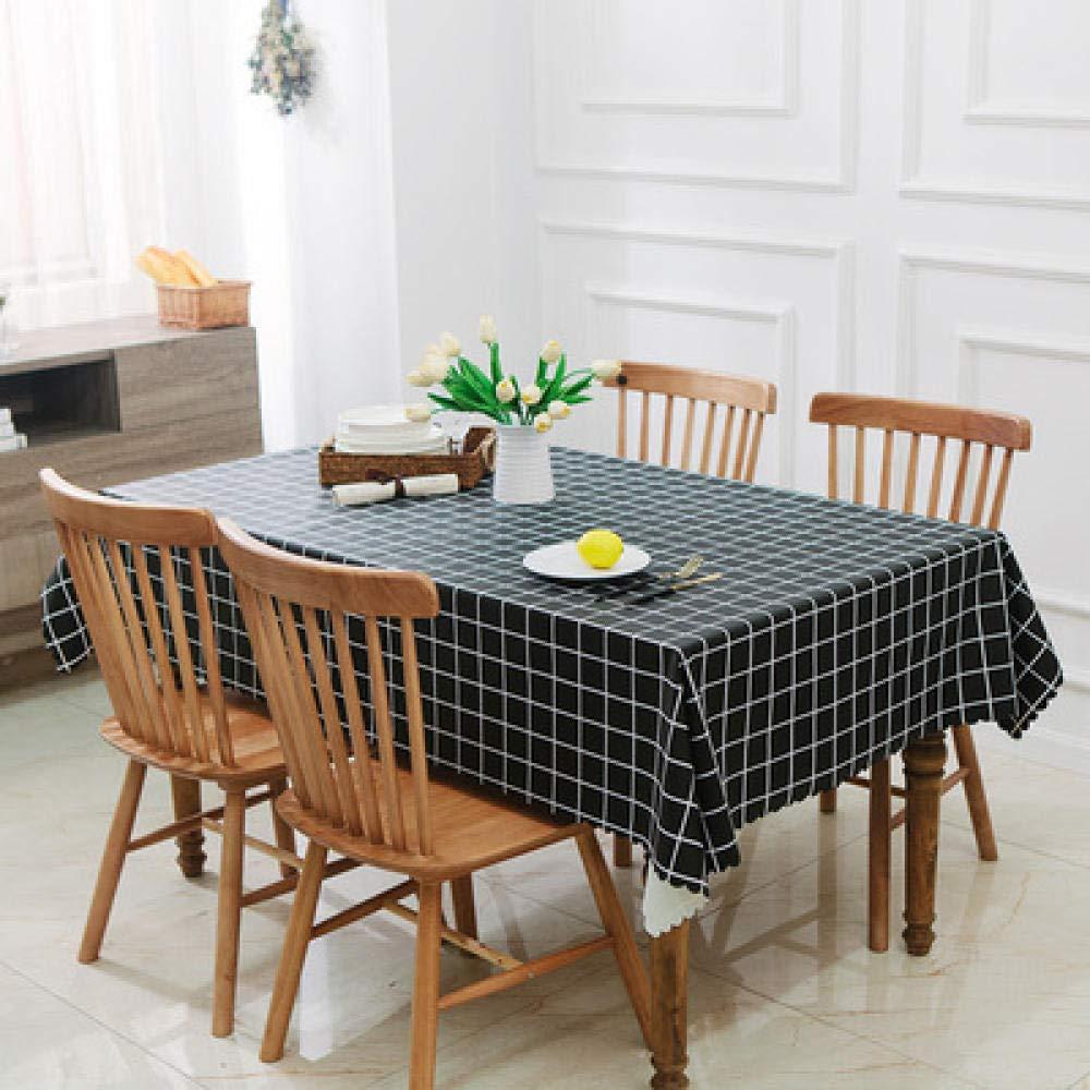 WJJYTX Wachstuch tischdecke, Quadratische Tischdecke für Tischtücher PVC-Tischtuch ölbeständig/wasserdicht schmutzabweisend Verbrühschutz-Kaffeetischtuch @ 135 * 180