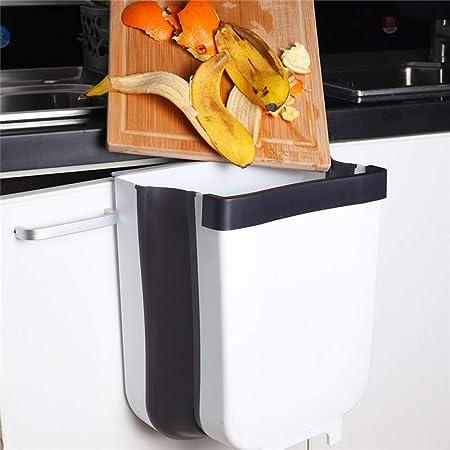 Creative Wall Mounted Folding Waste Bin Kitchen Trash Garbage Can Kitchen