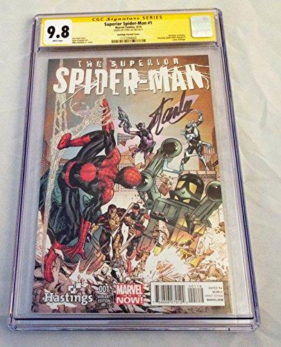 STAN LEE Signed / Autographed Superior Spider-Man #1 9.8 CGC SIGNATURE SERIES Hastings Variant