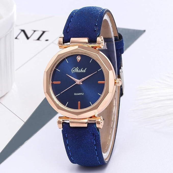 BBestseller Moda Relojes para Mujer, Reloj con Correa de Silicona Geneva Accesorios Acero Pulsera de Malla (Azul): Amazon.es: Relojes