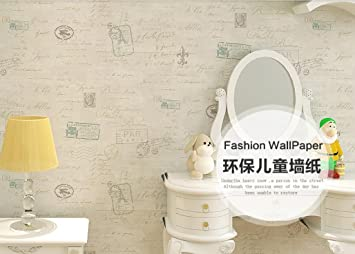 Meaosy Wallpaper Wallpaper Nette Amerikanische Antike Non-Woven ...