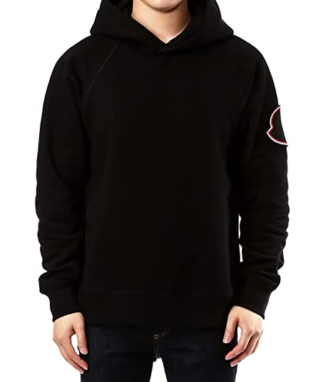 Wiberlux Moncler Men's Embroidered Patch Hoodie S Black