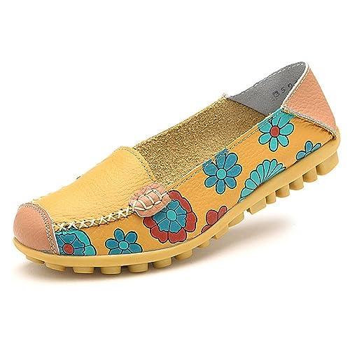Aitaobao Mocasines para Mujer Respirable Ligero, Cómodo y Antideslizante Moda Loafers Casual Zapatillas Verano Zapatos del Barco Zapatos para Mujer Zapatos ...