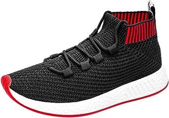 Zapatos hombre deportivos, Zapatos de running altos para hombres Zapatos de gimnasia zapatillas de correr Calcetines Zapatos Calzado de hombre (rojo, EU42 /CN 43): Amazon.es: Iluminación