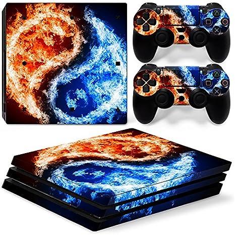 Sony PS4 Playstation 4 Pro Skin Design Foils Pegatina Set - Yin Yang Motivo: Amazon.es: Videojuegos