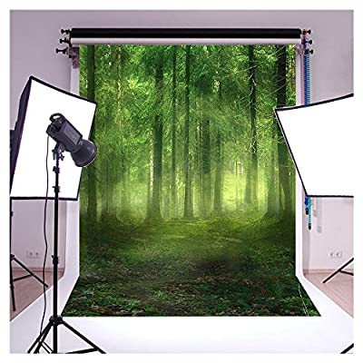 Vinyl Cloth Green Forest Bryophytes Studio Photo Photography Background Studio Backdrop Studio Props best for Personal Photo, Wall Decor 5x7ft