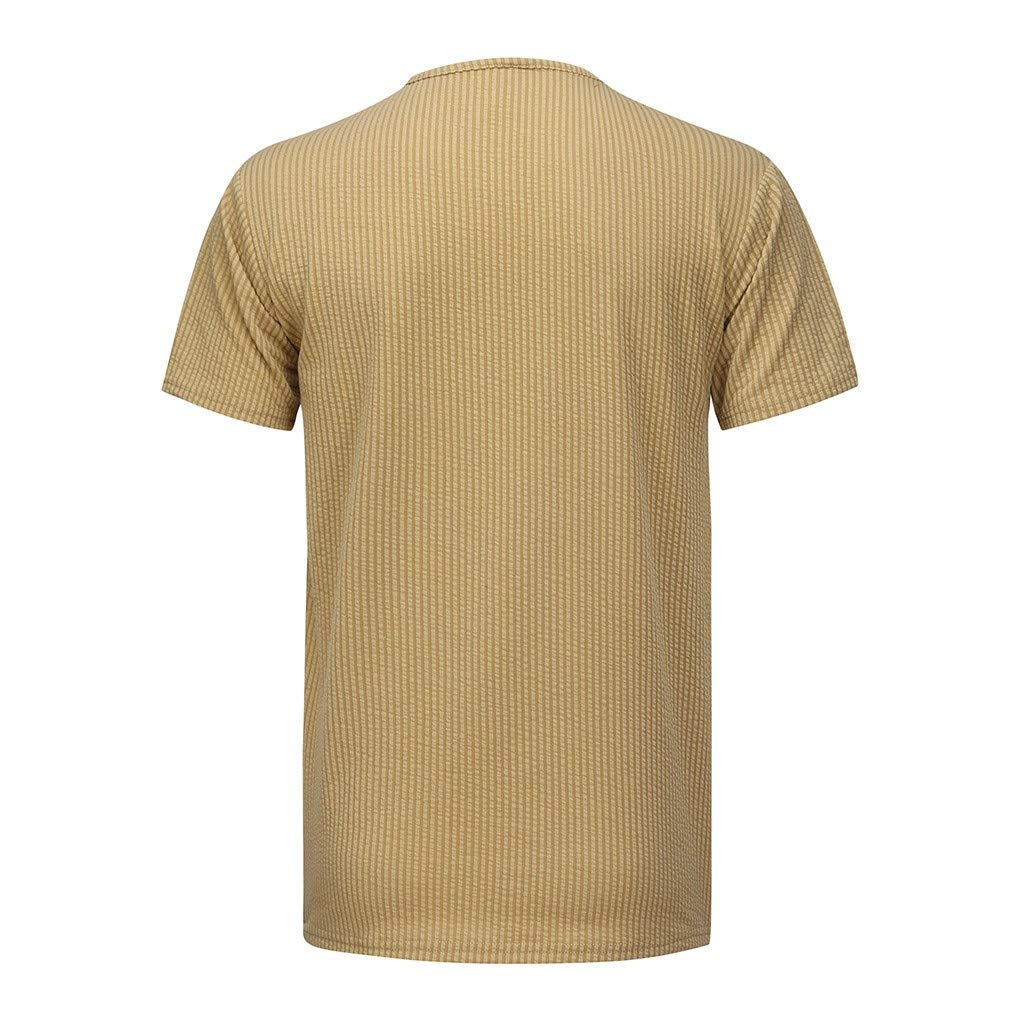 Slim Fit Basic Tee Party Bsjmlxg Mens Striped T-Shirt Crew Neck Muscle Short Sleeve Top Daily