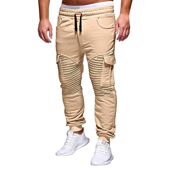 c1cfd4102d1ac UOMOGO Uomo Chino Cargo Casual Pantaloni Harem Jogging Basso Sportivi  Cotone Slim Fit