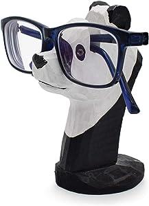 VIPbuy Handmade Wood Carving Eyeglasses Spectacle Holder Stand Sunglasses Display Rack Home Office Desk Décor Gift (Panda)