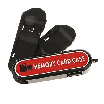 Dolity Tarjeta de Memoria de 7Ranuras Funda de Transporte de Almacenamiento Organizador Caja Protectora para Viajero y Fotógrafo Se Adapta a 5X SD, 2X ...