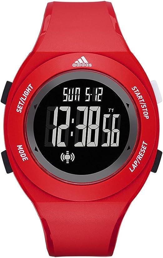 Aplicado primero Lirio  Amazon.com: adidas Reloj informal., 42 mm, Rojo, negro ADP3209: Adidas:  Watches