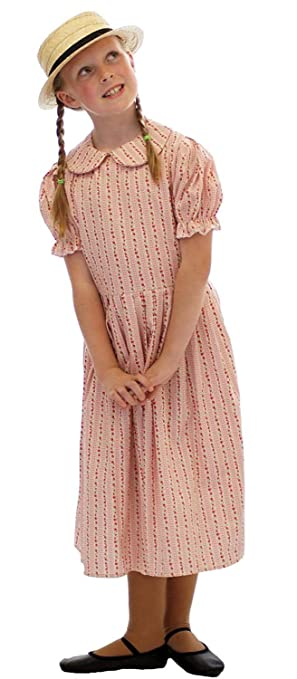 Vintage Style Children's Clothing: Girls, Boys, Baby, Toddler CL COSTUMES World Book Day-The Railway children Edwardian Pink Stripe Floral Dress With Straw Boater - All Ages $45.00 AT vintagedancer.com