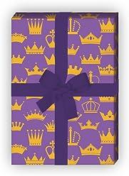 Dekorpapier blau 4 B/ögen f/ür Geburtstage Weihnachtsgeschenke Edles vintage Geschenkpapier mit /üppigem Damast Muster Hochzeit f/ür sch/öne Geschenk Verpackung zum Einpacken 32 x 48cm