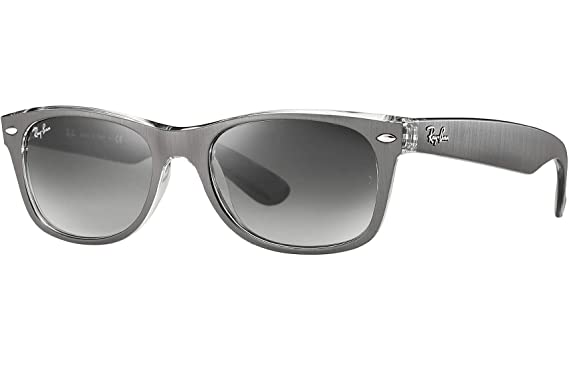 be2eee7bd8610 Amazon.com  Ray Ban RB2132 614371 55 Gunmetal Clear New Wayfarer ...