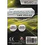 100 Sleeves Sapphire GOLD DIXIT 80x120 Bustine Protettive x Giochi da Tavolo