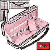 Core 440 Oblong 4/4 Violin Case, Pink Plaid