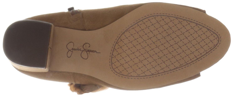 Jessica Simpson Women's Kailey Ankle Bootie B01GJ9QXME 9 B(M) US Canela Brown