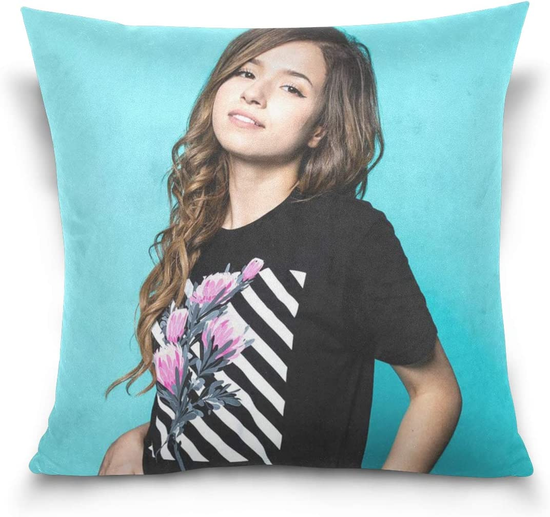 Pokimane Throw Pillowcase Decorative