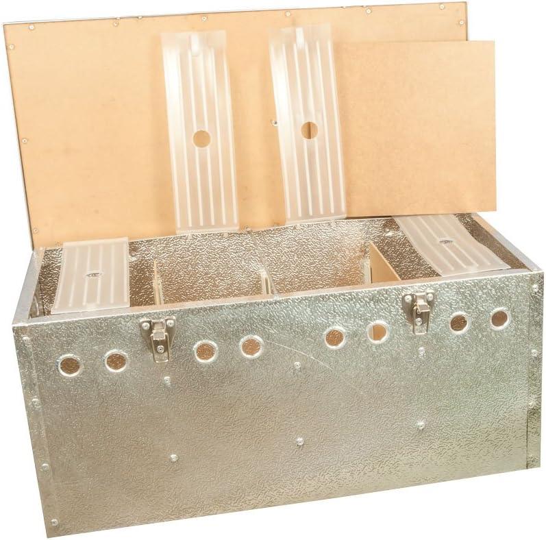 Breker Aluminium Transportkorb 4 Abteilungen gro/ß